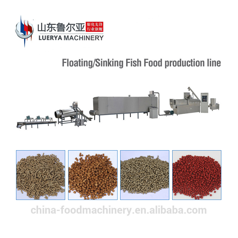 Floating fish feed pellet extruder machine price with processing line