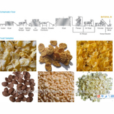 200~300kg/h Breakfast Corn Flakes Making Machine from Jinan manufacturer