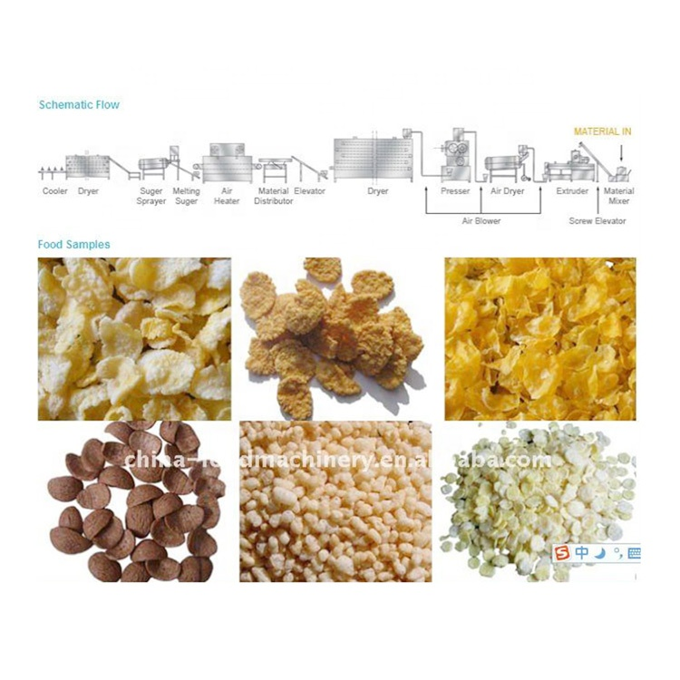 Extruding Corn Tortilla Chips Making Machine for Sale