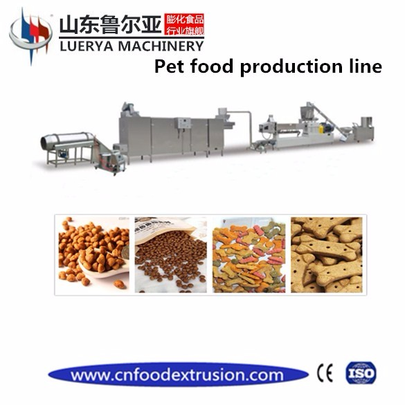 Hot sale pet food extruder machine with production line