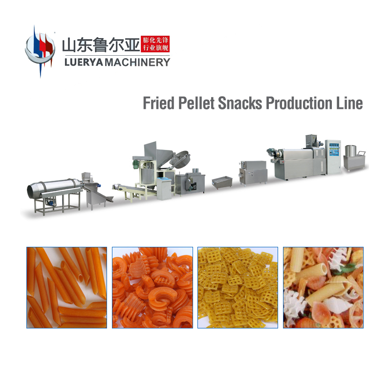 Factory Outlet Fried 2D/3D Pellet Snack Food Extruder Production Line